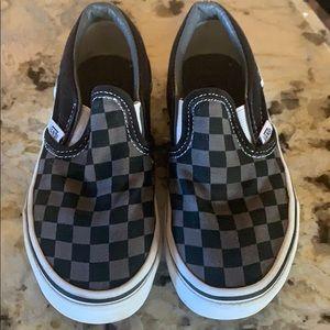 Vans Checkered black slip on toddler kids 11.5